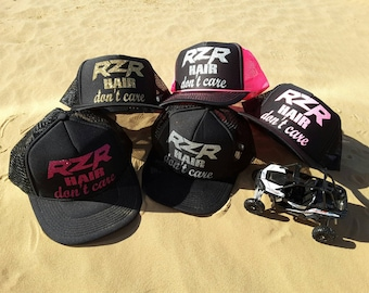 4841adcaa9a Side X Side Hair Don t Care Trucker Hat