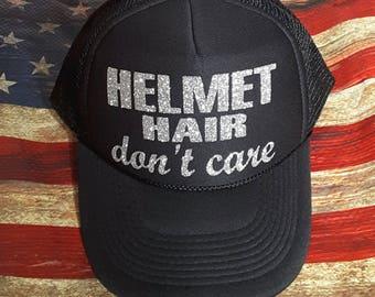 271b509e342 Helmet Hair Don t Care Trucker Hat