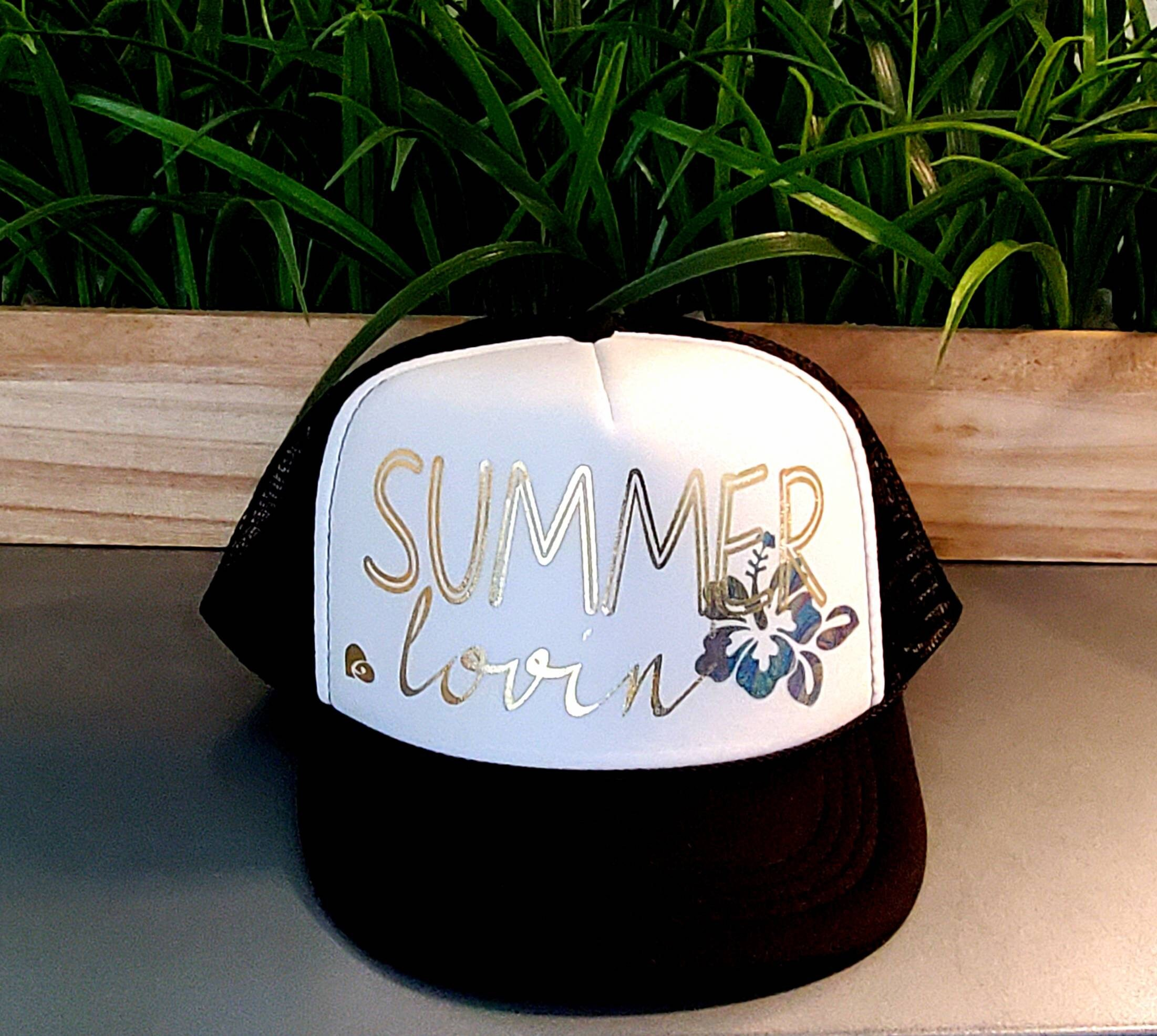 3aaf23a59 Summer Lovin Trucker Hat, Summer Vibes, Beach Trucker Hat, Beach, Summer,  Snapback Trucker Hat, Vacation, Beach, Party, Bachelorette,