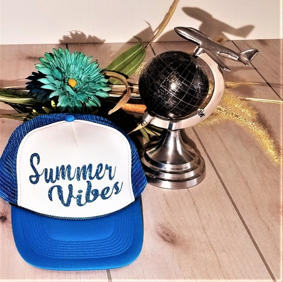 765c564d1 Summer Vibes Hat. Good Vibes Only, Baseball and Trucker Hat