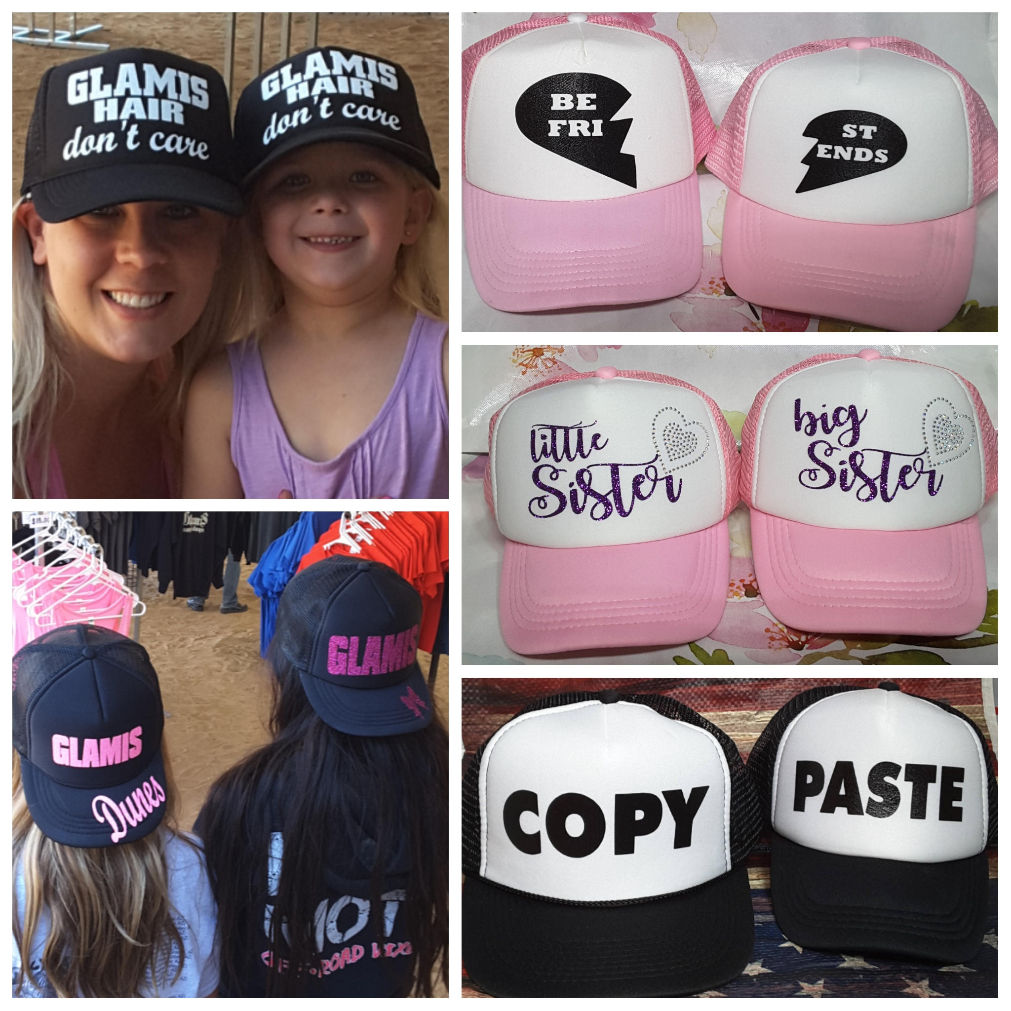 1629f703521 Mother Daughter hats, Father Daughter Set, Matching Hat Set, Mother  Daughter, Father Son, Best Friends trucker hat, custom made hat set