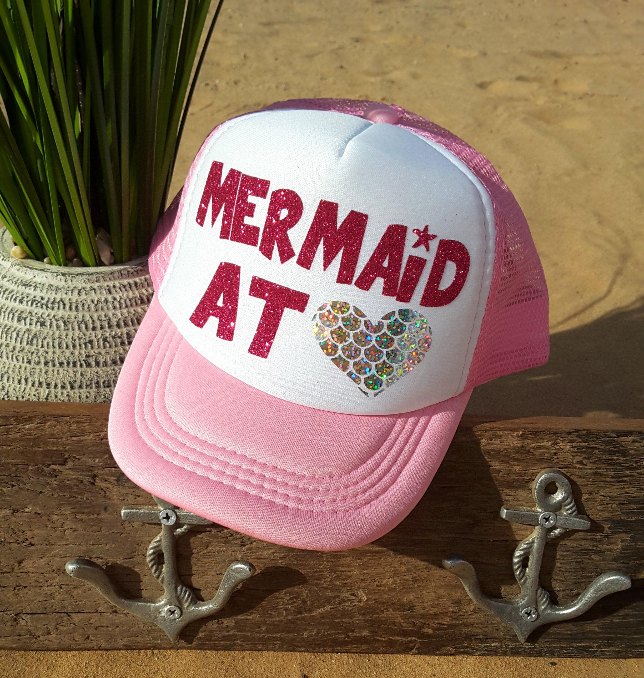 d93d28c4b5e Mermaid at Heart Hat Little girls trucker hat