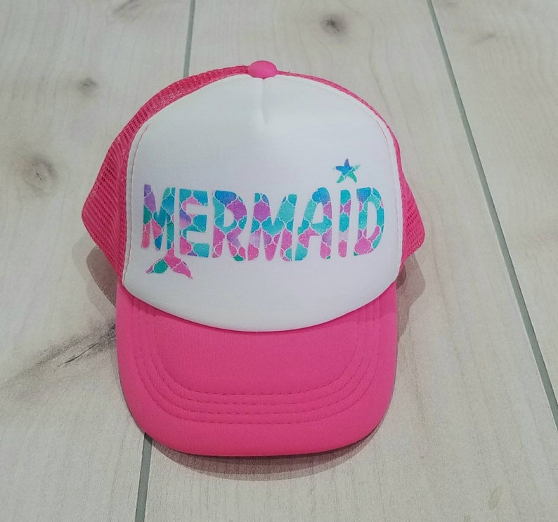 c0617de7042 Toddler Mermaid Fin Hat Little girls mermaid hat Mermaid