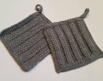 Hand-knit pot holders
