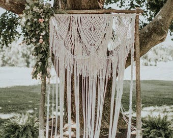 Wedding Macrame Backdrop Arch Bohemian Beautiful Boho Wedding  Arch Photobooth Wedding Decor
