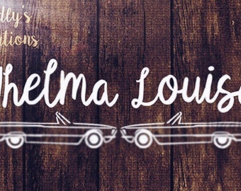 Thelma & Louise SVG