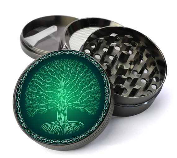 Gunmetal King Crusher Tobacco Herb 4 Piece 2 Inch Spice  Alloy Smoke Grinder-