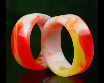 Orange & Cream Swirl Ring