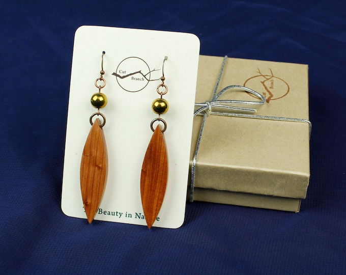 Boho Chic Drop Earrings, Unique Dangle Earrings, nature lover boho jewelry, wooden jewelry, wood earrings, dangle earrings, handmade