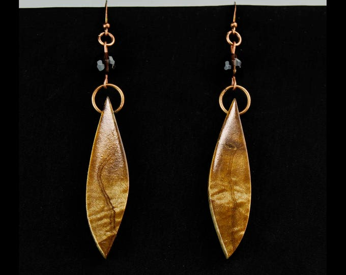 Unique Dangle Earrings, boho chic drop earrings, nature lover boho jewelry, wooden jewelry, wood earrings, dangle earrings, handmade