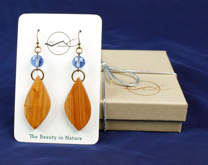 Nature Inspired Dangle Earrings for women, modern nature jewelry, eco friendly tribal jewelry, nature jewelery, copper wood earrings