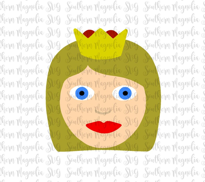 Muchacha Con Corona Emoji Reina Emoji Apple Emoticonos Etsy
