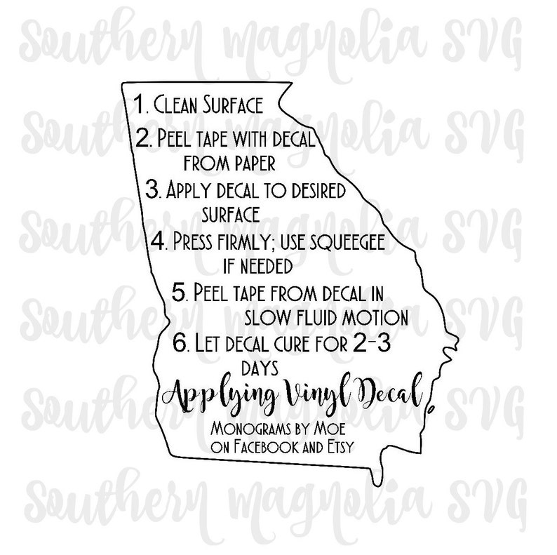 photo regarding Decal Application Instructions Printable identified as Vinyl Computer software Recommendations - Print and Reduce Document - Silhouette - Cricut - Treatment Recommendations - SVG - Style and design - Report Simply just