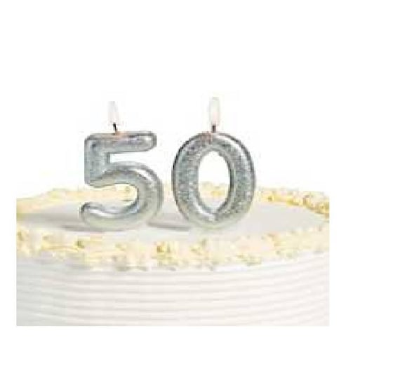 NUMBER 3 SILVER GLITTER  CANDLE HAPPY BIRTHDAY CAKE TOPPER CELEBRATION MILESTONE