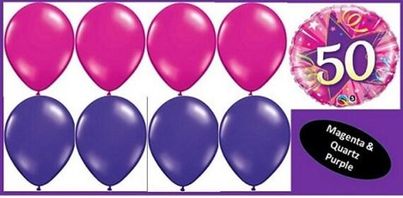 50th Birthday Foil Mylar 18 Milestone Balloons 8 Latex