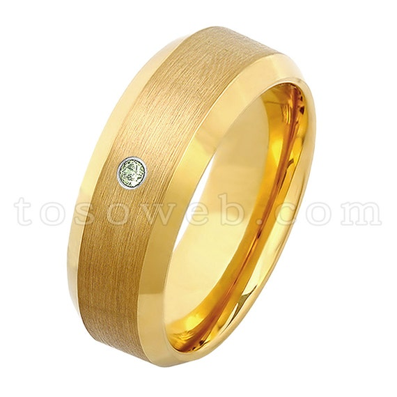 Garnet /& Diamond Wedding Band Men/'s January Birthstone Ring 8mm Black IP Brushed Finish Tungsten Carbide Ring TS2312
