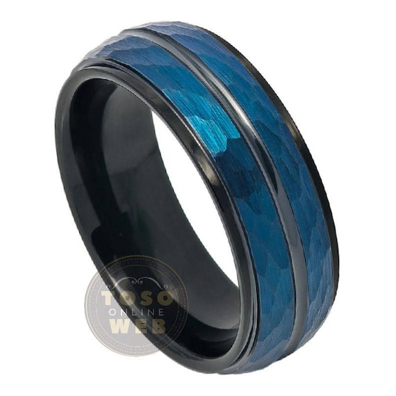 Titanium 8mm Satin and Polished Checkered Wedding Band Fine Jewelry Ideal Gifts For Women