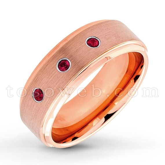 Jewelry Avalanche 7MM Comfort Fit Polished Dome Cobalt Chrome Wedding Band 0.07ct Ruby Cobalt Ring July Birthstone Ring 8.5