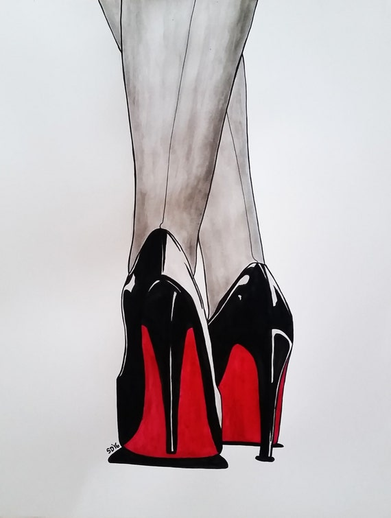 dessin chaussure louboutin