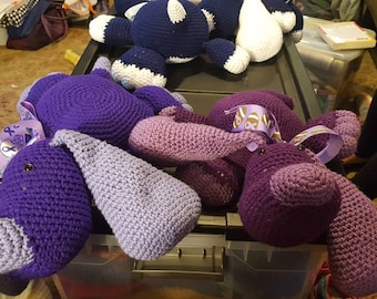 Purple stuffed puppy