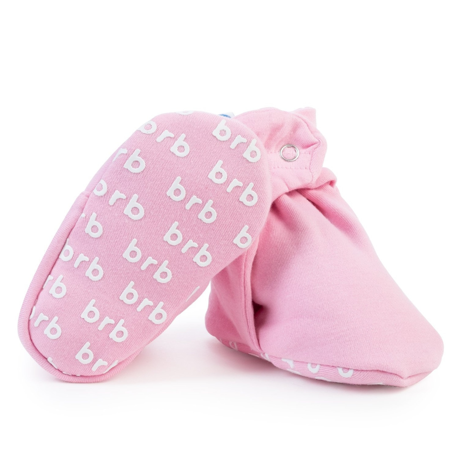 birdrock baby organic cotton booties: ballet pink | lightweight booties for boys & girls