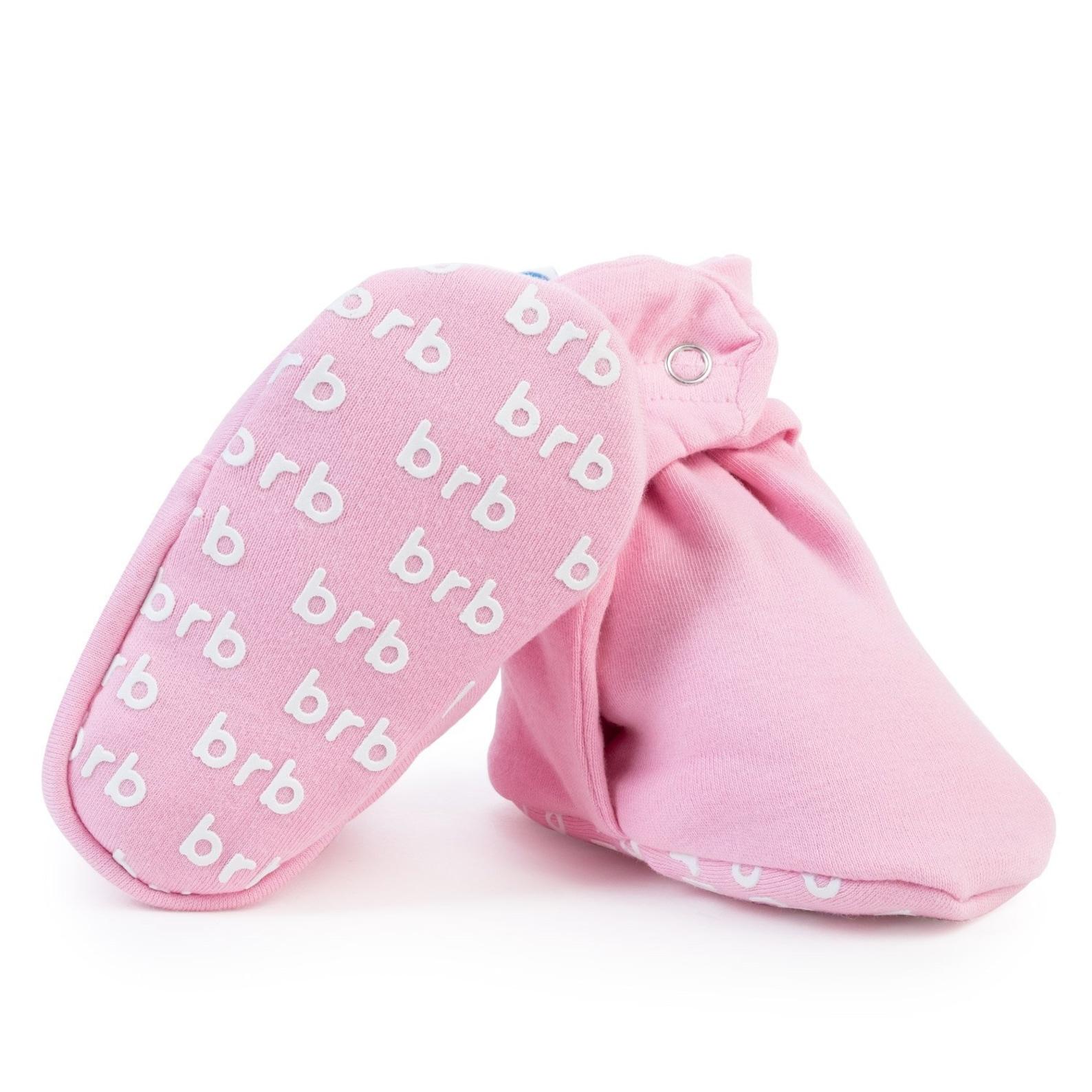 birdrock baby organic cotton booties: ballet pink | lightweight booties for boys & girls