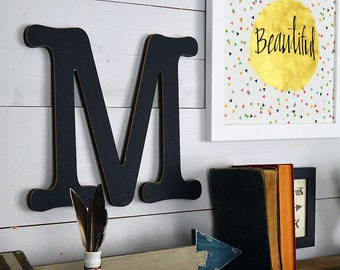 black wall letters etsy