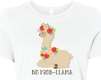 e2aa78c51cf No Prob-Llama Women s Relaxed Short Sleeve Jersey Tee
