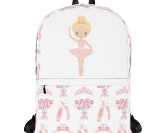 54b654eef1 Personalized Ballerina Backpack - Ballet Backpack - Back to School - Girls  Backpack - School Backpack - Laptop Carrier