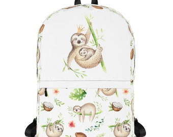 Sloth Queen Backpack - Laptop Backpack - Medium Backpack