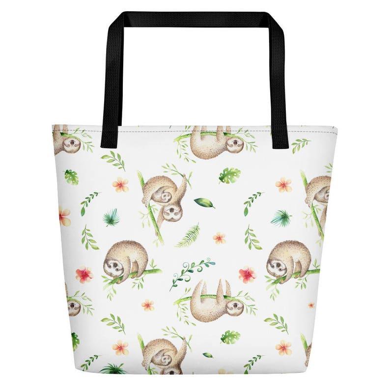 e151d75c4e3d2 Lenistwo Tote Bag-duża torba na plaży-prezent dla miłośnika | Etsy