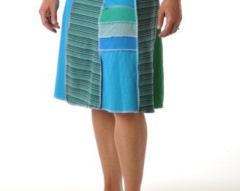 Stripe Juju Skirt (Long)