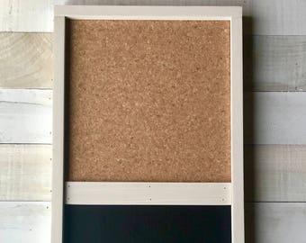 Framed Chalkboard Cork Board With Chalk Tray/Farmhouse/Chalkboard/Bulletin  Board/Cork Board/Kitchen Organizer/Message Center/Message Board