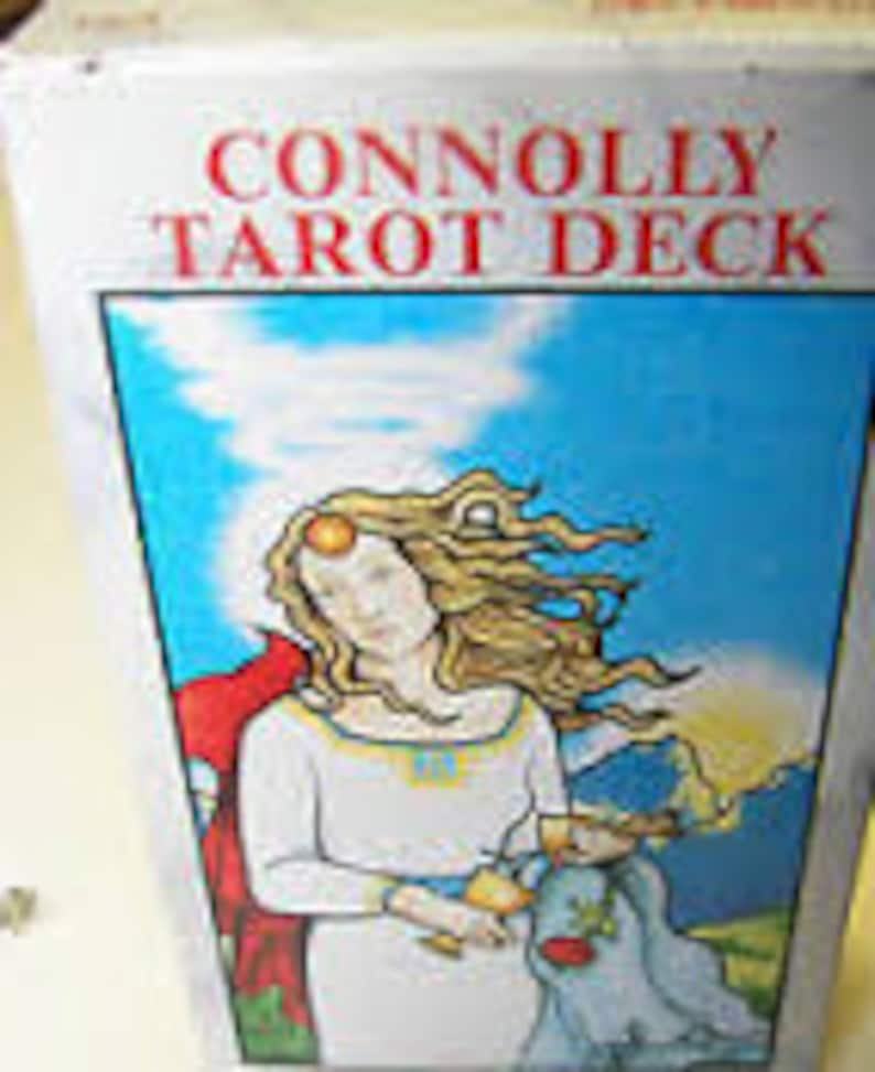 Vintage Version Connolly Tarot Deck Great Condition and image 0