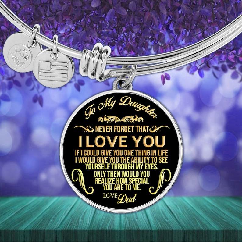 Download To My Daughter Never Forget That I Love You Necklace And ...