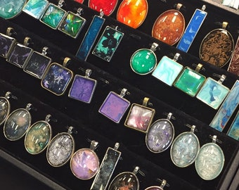 Resin Art Necklaces
