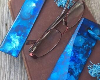 Bookmarks - Double Sided: Fluid Art & Resin