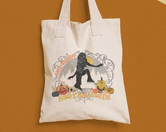 Trick or Treat, SASS-SQUASH! - Trick or Treat Bag- Sasquatch pumpkin