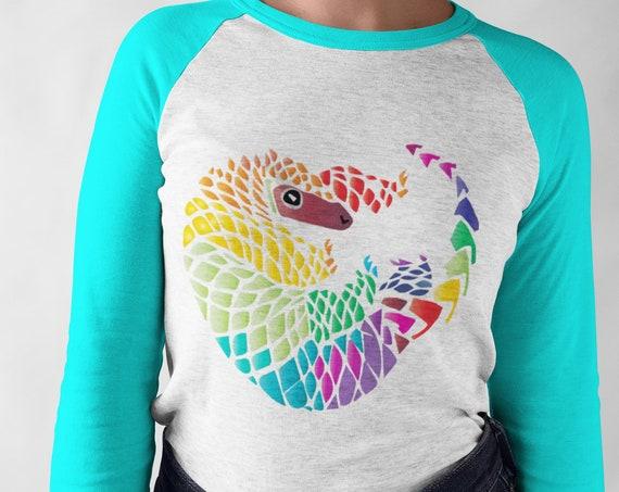 Pangolin Pride - Geometric Pangolin - Unisex Baseball Tshirts