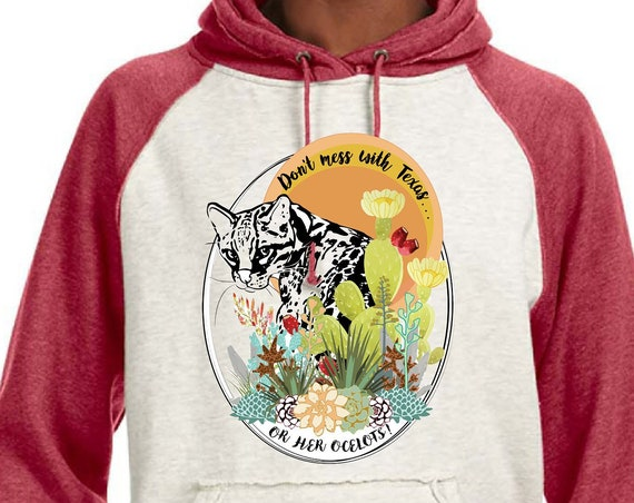 Ocelot - Original Artwork - Unisex SUPER SOFT Hoodie - 3 Different Text Options!