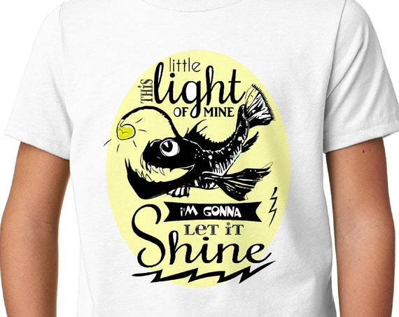 This Little Light of Mine - Angler Fish Kid's Tshirt