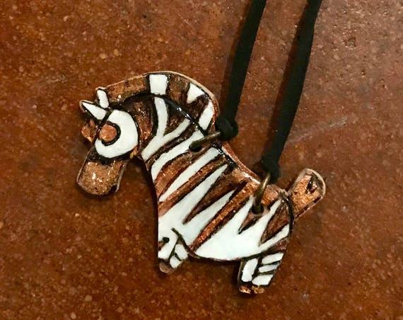 Conservation Critter Necklaces - Zebra Statement Necklaces