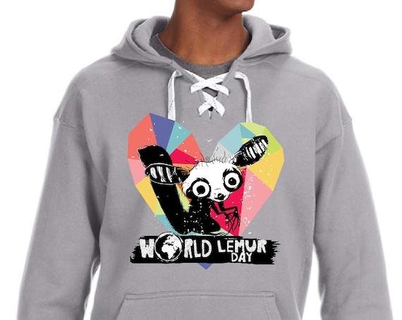 World Lemur Day - Aye Aye Geo Heart - Unisex SUPER SOFT Hoodie