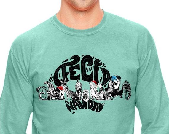 FELID Navidad! Big Cat, Small Cat ALL the CATS! - Original Artwork - Unisex Long sleeve Shirt
