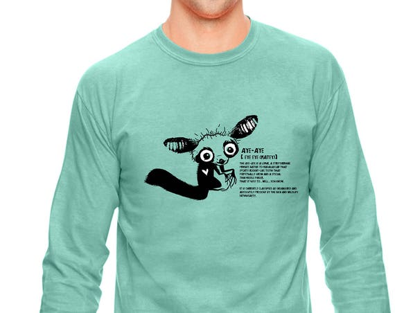 The adorable Aye Aye - Original Artwork - Unisex Long sleeve Shirt