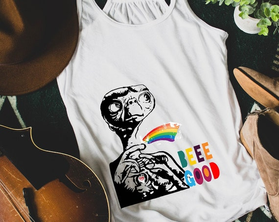 E.T. Be Good - Rainbow  - Women's Racerback Tank
