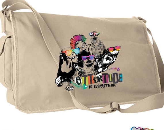 World Otter Day - Original Artwork Benefiting Save the Giants - Satchel Bag