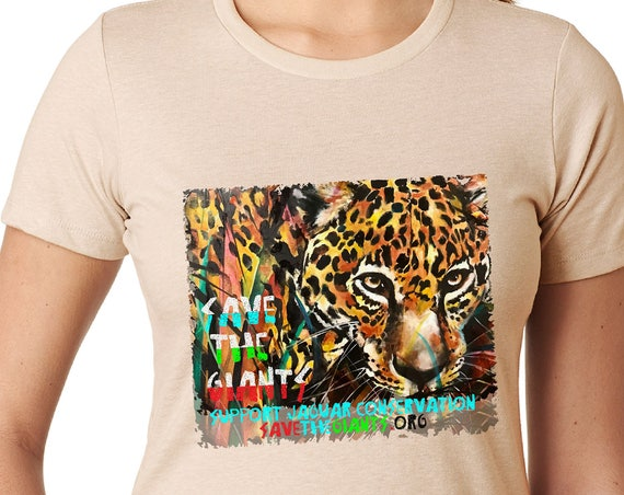 Save the Giants Jaguar Original Artwork - Community Conservation Initiative- Tshirt, Women or Mens