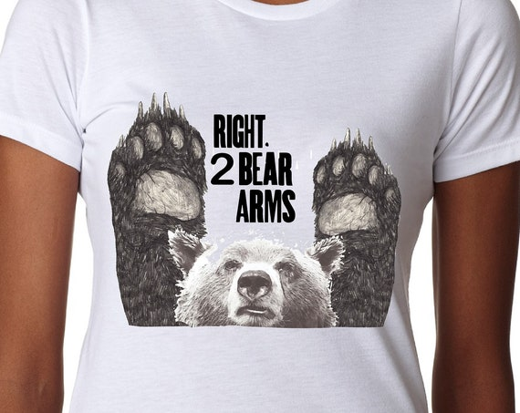 Right to Bear Arms - Tshirt, Women or Mens