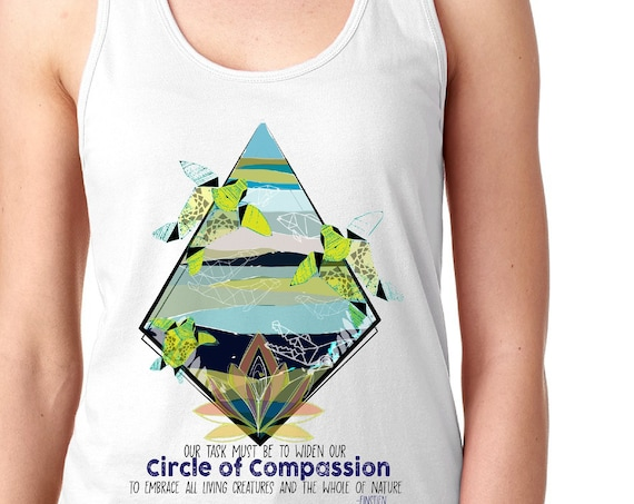Fundraiser - Yupukari Turtle Conservation Festival - Circle of Compassion - Racerback Tanktop
